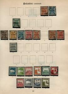 PALESTINE: Used/Unused Examples - Ex-Old Time Collection - Album Page (41031)