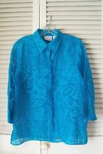 Alfred Dunner:  Turquoise Women's Floral Shirt . Size 12