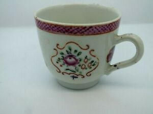 Excellent Late 18th C Chinese Exportware Porcelain Coffee Cup Circa 1780