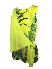 GORGEOUS LADIES NEXT LIME GREEN FLORAL WRAP TOP STORES WOMENS TOPS HOLIDAY