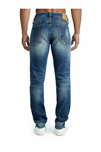 True Religion Men's Geno No Flap Jeans Size 42 x 34 NWT Jetset Blue Relaxed Slim