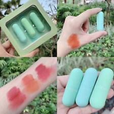 3 Color Mini Capsule Lip Glaze Mirror Matte Velvet Mirror Glass Lip Gloss Stick