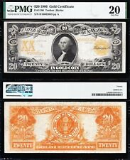VERY NICE *SCARCE* Bold VF 1906 $20 *GOLD CERTIFICATE*! PMG 20! FREE SHIP! 82049