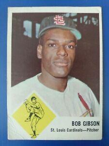 1963 Fleer #61 Bob Gibson, St. Louis Cardinals HOF- VG