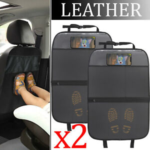 Car Auto Seat Back Protector Cover For Children Kids Kick Mat Mud Dirt Clean X2