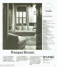 PUBLICITE ADVERTISING 036  1977  Casa Brunati  canapé cuir