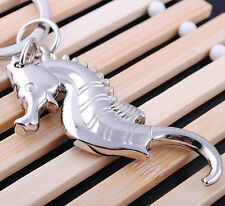FD1150 Zinc Alloy A Hippocampus Sea Metal Keychain Keyring Keyfob Key Ring 1pc