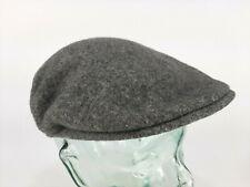 Kangol Cap Pure Virgin Wool Flat Cap Hat Gray Mens Medium Made in England