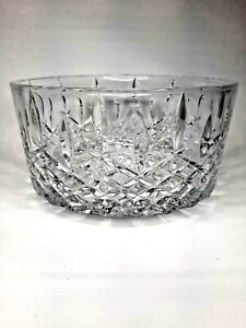 """Waterford Crystal Marquis Markham Design Serving Fruit Bowl 9"""" With Orig. Box"""