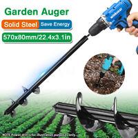 PTPTRATE Garden Earth Auger Drill Bit Planter Digger Auger Tool for Outdoor Garden Planting 37x4.6cm