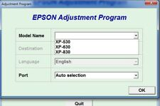 Reset Epson Xp530, Xp630, Xp830 Reset ink pads counter