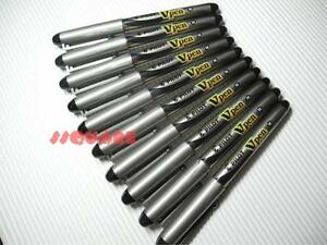 (Tracking no.) 12 x Pilot Vpen V-Pen Disposable Medium Nib Fountain Pen, Black