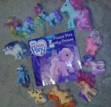 My Little Pony LOT OF 10 ponies with a book wow cool brony bronies collectible!