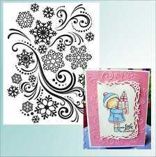 Snowflake Swirl embossing Folder Darice Christmas embossing folders 1218-39 snow