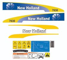 New Holland 7630 Tractor Decal / Adhesive / Sticker Complete Set