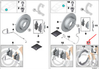 BMW X3 E83 Brake Shoes Service Repair Kit 34212357228 NEW GENUINE