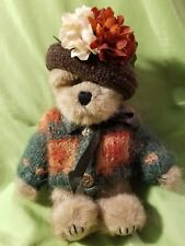 Boyds Bears Aunt Fanny Freemont #918350 Cute Plush Stuffed Animal Sweater & Hat
