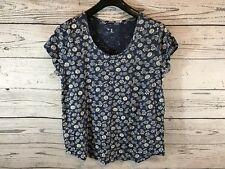 Gap Womens Steel Blue Floral Daisies Print 100% Cotton Shirt XL X-Large NWT Q2 C