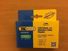 Rapid &Tacwise 140 Series T50, A11 Staples 10mm Stainless/Steel 2000 Boxes