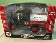 Gearbox Toy 1912 Ford Texaco Oil Tanker Coin Bank Limited Edition Diecast Truck