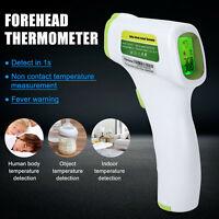 Digital Infrarot LCD Stirnthermometer Kontaktlos Fieber Körper Baby Erwachse