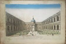 Vue d'optique - Intérieur du Palais du Prince Eugène - XVIIIème siècle