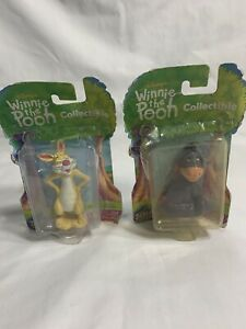 VINTAGE (NEW) DISNEY WINNIE THE POOH  EEYORE & RABBIT FIGURE by DISNEY..2000~A12