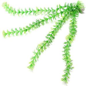 5pcs 12.5''Artificial Green Grass Plant Ornament for Aquarium Fish Tank Decor