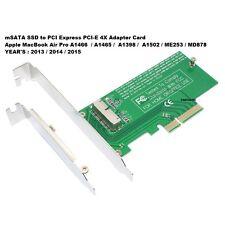 mSATA SSD PCI-E Express 4X Scheda Adattatore A1466 A1465 A1398 A1502 2013-15
