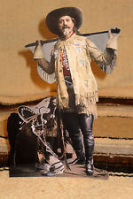 "Buffalo Bill Cody Western Cowboy Color Tabletop Display Standee 10"" Tall"