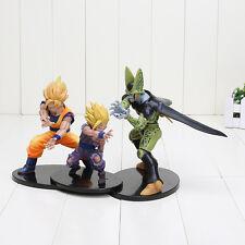 3pcs Dragon Ball Z Dramatic Showcase Super Saiyan Son Goku Son Gohan Cell No Box