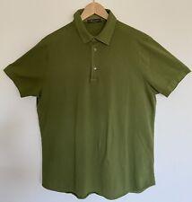 Loro Piana Cotton Mens Polo Olive Green Large FAI1315