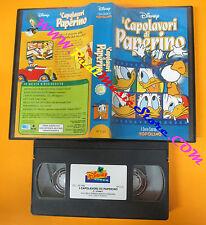 VHS film I CAPOLAVORI DI PAPERINO animazione WALT DISNEY VP 1122 (F114*) no dvd