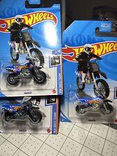 2021 Hot Wheels K Case HW450F Dirt Bike #182 2/10 Race Team Series Lot of 3
