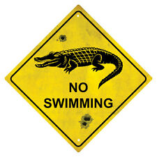 CROCODILE No Swimming Souvenir Australian Road Sign