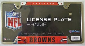 CLEVELAND BROWNS METAL LICENSE PLATE FRAME FROM WINCRAFT