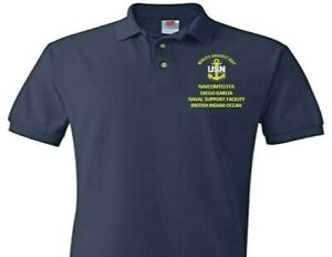 NAVAL SUPPORT NAVCOMTELSTA DIEGO GARCIA EMBROIDERED POLO SHIRT/SWEAT/JACKET.