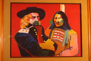 """Malcolm Furlow - """"Custer & Crazy Horse"""" - Custom Frame"""