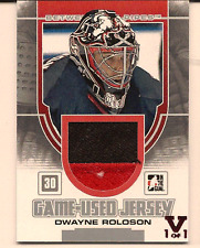 DWAYNE ROLOSON IN THE GAME ITG FINAL VAULT GAME USED JERSEY PATCH 1/1