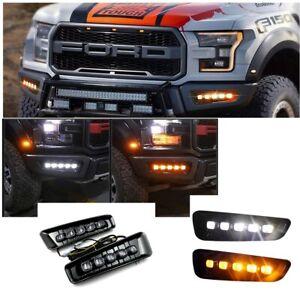For 2017-2020 Ford F-150 RAPTOR Fog Light Switchback LED Dynamic Turn Signal
