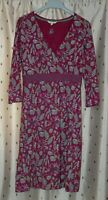 White Stuff ~ Ladies Pretty Floral Stretch Cotton Dress ~ Size 10
