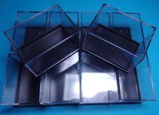 10 Kleinstufen - Dosen schwarz  59x41x39 mm für Mineralien Sammlung / Kästchen