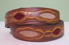Leather Decorative Distressed Belt Size 34