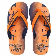 FOCO NFL Men's Chicago Bears Contour Fade Wordmark Thong Sandals