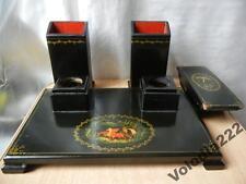 1949  RUSSIAN USSR PAPIER MACHE LAQUER BOX SIGNED MSTERA Writing set Kulikov