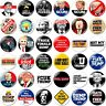 1 x Anti Trump 32mm BUTTON PIN BADGE No More Dump Donald USA Not My President F