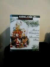 KIRKLAND LARGE  MUSICAL WATER GLOBE WITH REVOLVING BASE..MINT CONDITION