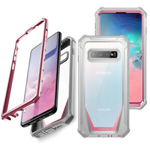 Galaxy S10 Case,Poetic Clear PC Back TPU Bumper Drop Protection Cover Pink