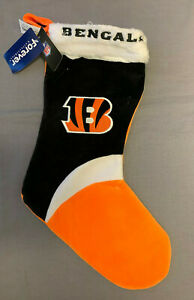 Cincinnati Bengals Logo Holiday Christmas Stocking Officially NFL Licensed