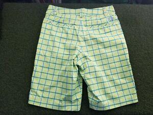 Puma Golf Women's + L + POLY / Dry Cell + Lime Green Pattern + gw00547